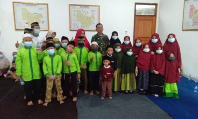 Menyambut bulan suci Ramadhan Subgar 0503 JB mengadakan santunan kepada anak yatim-piatu sekaligus tasyakuran di gedung baru Aula