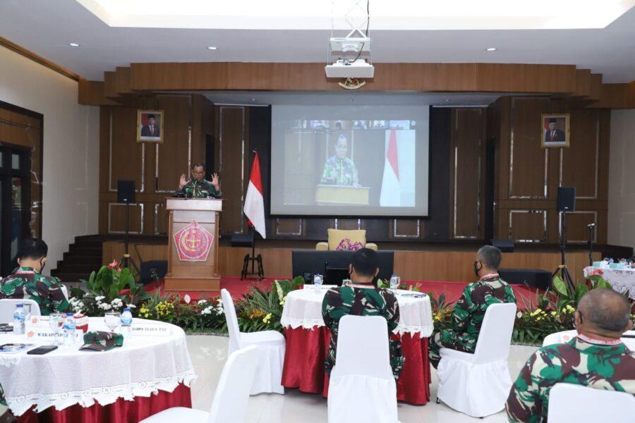 Rakornis Infolahta TNI kali ini adalah merupakan pelaksanaan program kerja Infolahta TNI Tahun 2021danevaluasi kegiatan tahun 2020