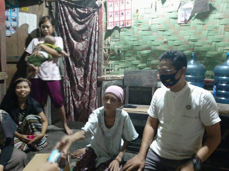 Korkab Lebak Sulaeman Apandi dan Akhmad Nouvan Hidayat melakukan blusukan ke rumah Keluarga Penerima Manfaat Program Keluarga Harapan