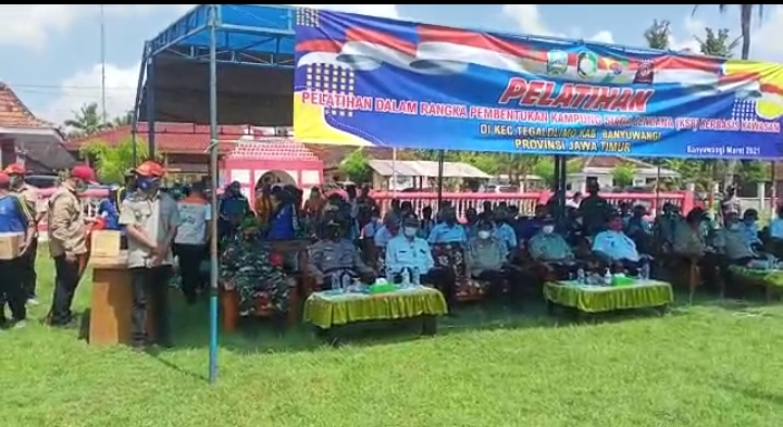 Kampung Siaga Bencana (KSB) Purwo Buwono Kecamatan Tegaldlimo yang dilaksanakan di halaman Lapangan Desa Kedungasri Kecamatan Tegaldlimo