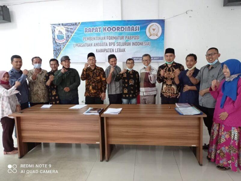 Tim Formatur Persatuan Anggota Badan Permusyawaratan Desa Seluruh Indonesia (PABPDSI) Lebak telah melakukan pembentukan kepengurusan