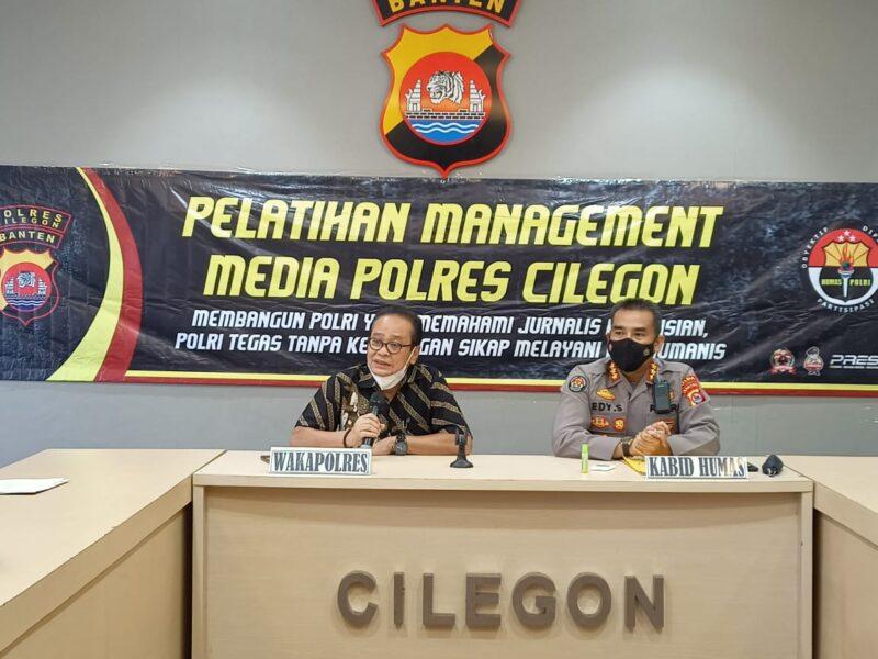 Kapolda Banten telah membuka pelatihan jurnalisme kepolisian pekan lalu pada 12 April 2021 berlanjut diikuti oleh 20 peserta dari Polres