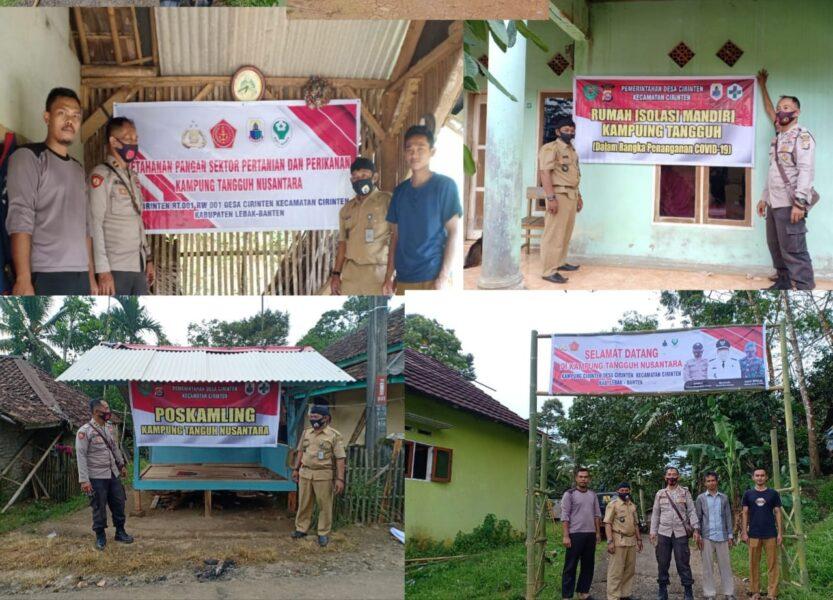 Subsektor Cirinten bersama Kepala Desa (Kades) Cirinten melaksanakan kerja bakti pembentukan posko persiapan Kampung Tangguh Nusantara