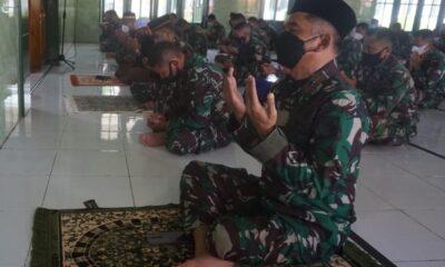 Korem 174 Merauke menggelar doa bersama dalam rangka peringati HUT ke-58Kodam XVII/Cenderawasihtànggal 17 Mei tahun 2021 di Masjid