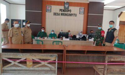 Sebanyak 150 warga lanjut usia (Lansia) di Desa Wringinpitu Kecamatan Tegaldlimo Kabupaten Banyuwangi mengikuti vaksinasi Covid-19