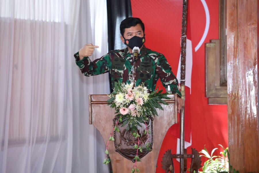 Panglima TNI menyampaikan bahwa saat ini Grobogan juga mengalami peningkatan kasus positif Covid-19 yang cukup signifikan