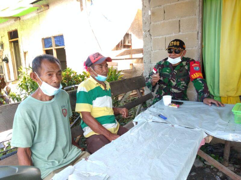 adanya Komunikasi Sosial (Komsos) anjangsana yang dilakukan Anggota Koramil 1208/01/Sambas Bintara Pembina Desa (Babinsa) Serda Tamrin