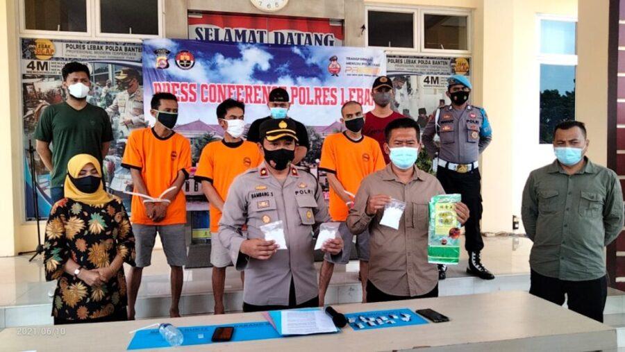 Satuan Reserse Narkoba (Satresnarkoba) Polres Lebak Polda Banten kembali mengungkap kasus peredaran Narkotika golongan I jenis sabu