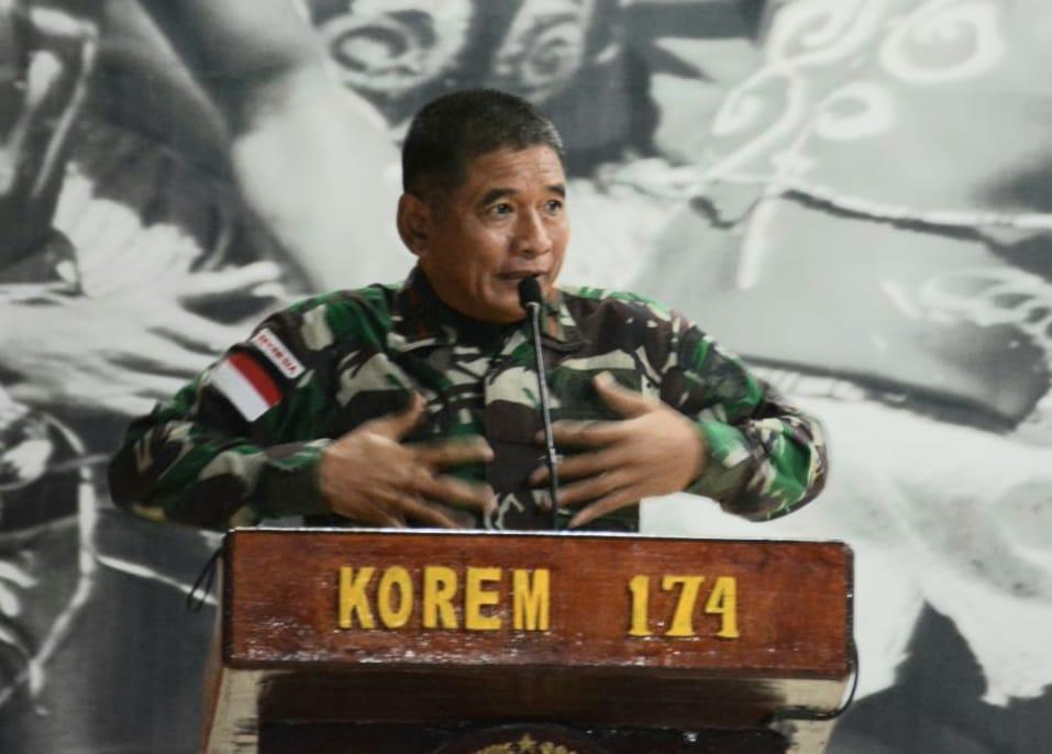 Danrem 174 Merauke menyampaikan Satuan Tugas Pengamanan Daerah Rawan(Satgas Pamrahwan) Yonif 315/Garuda yang dipercaya melaksanakan tugas
