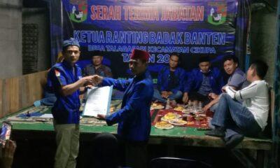 Badak Banten (BB) Kecamatan Cikupa mengadakan acara penyerahan SK Ranting Telagasari dari DPC Sekretariat ranting Telagasari, Desa Talagsari
