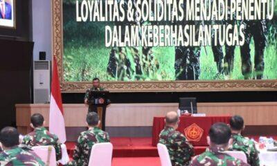 Pembinaan mental menjadi sangat penting dalam upaya membangun dan memelihara mentalitas Prajurit TNI agar tetap tangguh berpedoman keimanan,