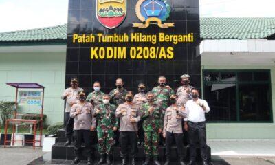 Kapolres Batu Bara bersama para Pejabat Utama melaksanakan kunjungan mewujudkan sinergitas dalam rangka merayakan HUT Kodam I Bukit Barisan