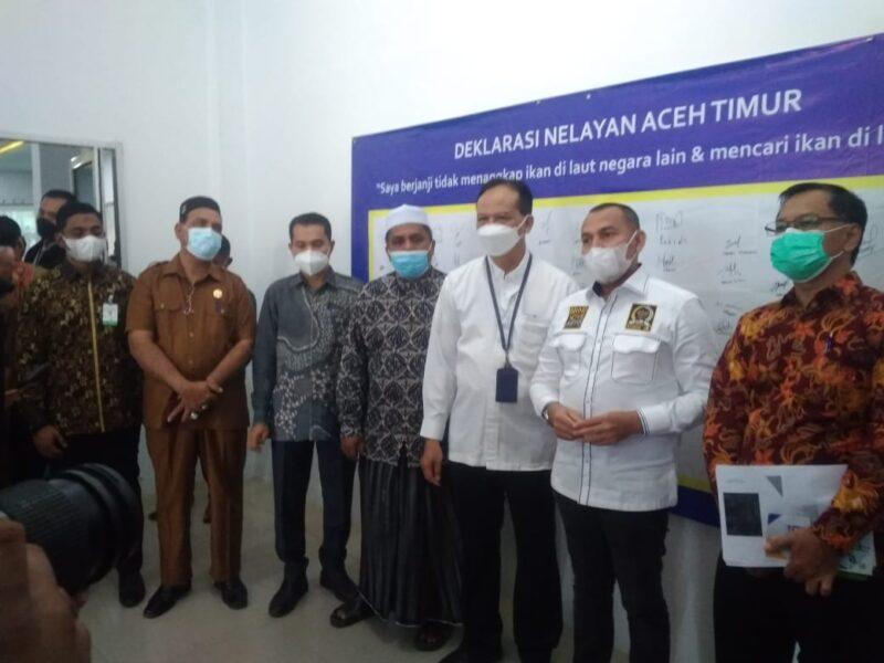 """Dirjen Perikanan menggelar deklarasi Nelayan Aceh Timur dengan tema """"Saya berjanji tidak menangkap ikan di Laut Negara lain"""