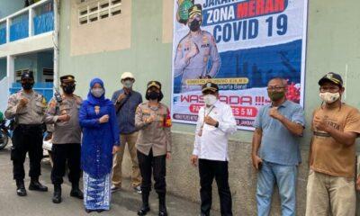 Polsek Tanjung Duren bersama Tiga Pilar memberikan sosialisasi dan penyuluhan tentang pencegahan penyebaran wabah virus Covid19
