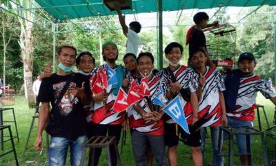 Burung Kacer Siliwangi 212 IR milik Imam R Warga Kota Cilegon berhasil bertengger dalam perlombaan Piala Putra Menes di Kabupaten Pandeglang