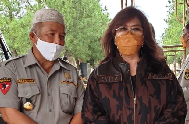(Ketum) Keluarga Besar Putra Putri Polisi Republik Indonesia (KBPP Polri), Dr. Evita Nursanty mengunjungi Mapolda Sumatera Utara