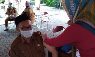 Puskesmas Majasari menggelar vaksinasi Covid19 di Puskesmas dalam upaya mencegah terjadinya penyebaran Covid19 yang kembali meningkat