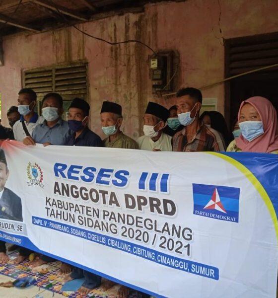Anggota Dewan Perwakilan Rakyat Daerah (DPRD) Kabupaten Pandeglang melasanakan kegiatan reses untuk menampung aspirasi masyarakat