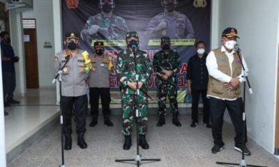 Panglima TNI mengatakan pelaksanaan Isolasi Terpusat di Bantul sudah sangat bagus ditingkat desa maupun kecamatan membantu pasien Covid-19