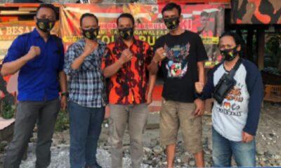 Ketua DPC Pejuang Siliwangi Indonesia (PSI) Jakarta Barat (Jakbar) berkunjung ke Ketua Ranting Pemuda Pancasila (PP) di Sukadamai,