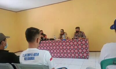 Ketua DPC Badak Banten Perjuangan (BBP) Kabupaten Lebak bersama rekannya mengadakan audiensi terkait realisasi BLT dengan Kepala Desa
