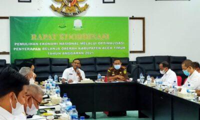 Bupati Aceh Timur H. Hasballah Bin H.M. Thaib, SH menghadiri rapat koordinasi (Rakor) dengan Kepala Kejaksaan Negeri (Kejari) Semeru