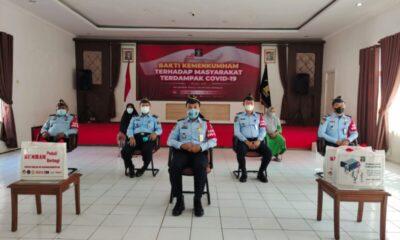 Lembaga Pemasyarakatan (Lapas) Kelas III Rangkasbitung menunjukan aksi simpatiknya dalam program Kumham Peduli, Kumham Berbagi