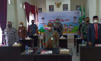 Penghargaan peringatan hari anak Nasional (HAN) tersebut diumumkan sercara virtual yang disaksikan oleh Sekda Aceh Timur Ir. Mahyuddin, M.Si,