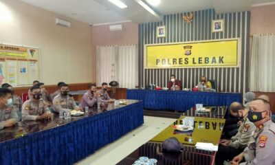 Satbinmas Polres Lebak menggelar pelatihan Tracer Covid-19 kepada para personil ,TTKDH, Petugas PPKM Desa, Insan Media di Aula Mapolres