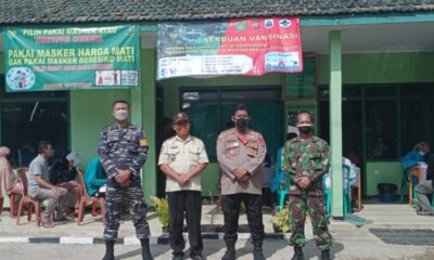 Komando Rayon Militer (Koramil) 0315 Bayah menggelar Vaksinasi Covid-19 secara massal dengan sasaran 300 warga Kecamatan masyarakat umum