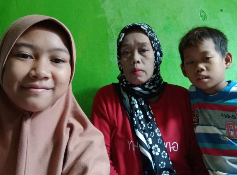 Seorang Janda Ibu Rumah Tangga (IRT) memiliki dua anak warga kurang mampu yang belum tersentuh bantuan berharap membutuhkan perhatian