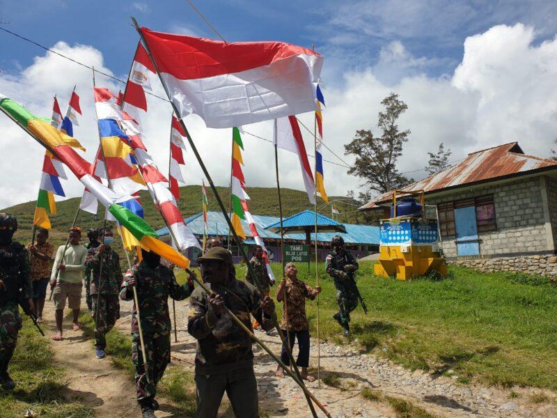 Dalam rangka menjelang dan meriahkan peringatan HUT Kemerdekaan Republik Indonesia (RI) ke-76 tahun 2021, Satgas Pamrahwan