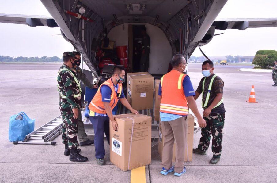 kasus Covid19 di Pulau Sumatera, Panglima TNI Marsekal Hadi Tjahjanto, S.I.P., kembali memerintahkan TNI AU untuk mengirimkan bantuan