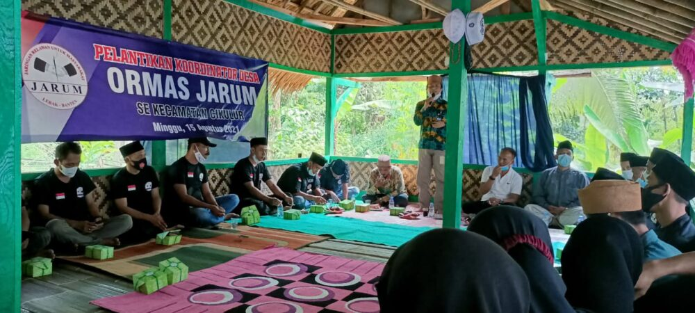 Camat Cikulur menghadiri acara pelantikan Koordinator Desa (Kordes) Organisasi kemasyarakatan jaringan relawan untuk masyarakat (Ormas Jarum)