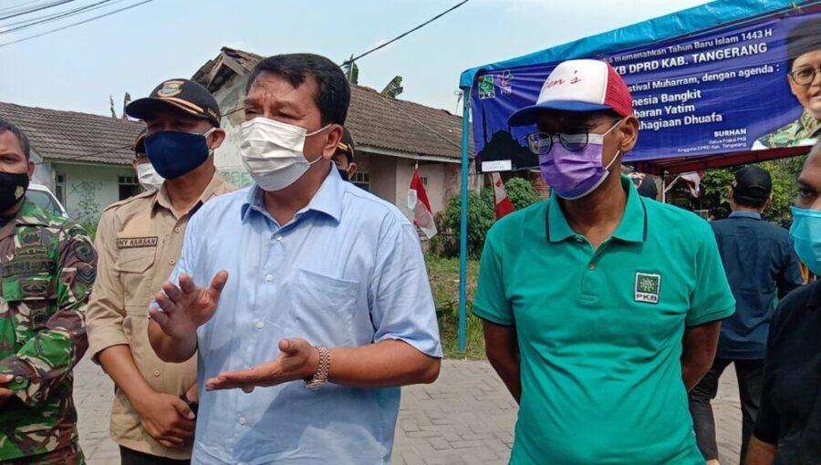 Anggota DPRD Kabupaten Tangerang dari Fraksi Partai Kebangkitan Bangsa (PKB) Burhan SE menggelar gebyar festival Muharram
