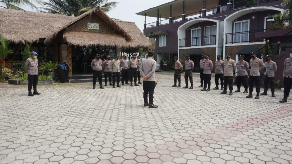 Polres Lebak Polda Banten dan Polsek jajaran memberikan pengamanan kunjungan Menteri Pariwisata dan Ekonomi Kreatif (Menparekraf)