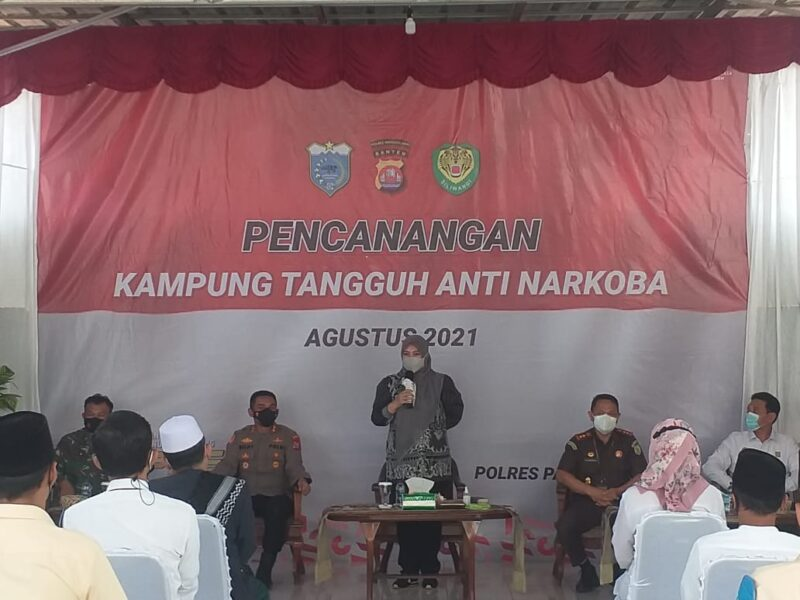 AKBP Belny Warlansyah,S.H., S.I.K., M.H., menghadiri peresmian pembentukan Kampung Tangguh Anti Narkoba di Kelurahan Pandeglang