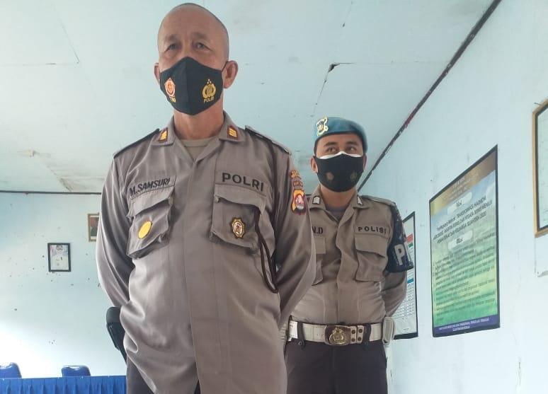 keamanan yang dilakukan Polsek Patia saat pengamanan audensi dugaan pungutan biaya untuk Pemilihan Kepala Desa (Pilkades)