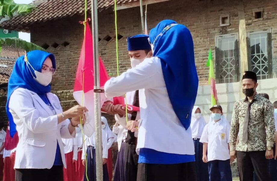 Ormas Badak Banten Perjuangan (BBP) DPAC Rangkasbitung menggelar upacara peringatan Hari Ulang Tahun (HUT) kemerdekaan ke-76
