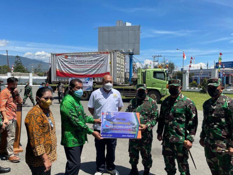 Bantuan 1 unit Generator Oksigen untuk RSUD Wamena telah tiba di Kabupaten Jayawijaya, Papua, Kamis (2/9/2021). Bantuan tersebut diterbangkan