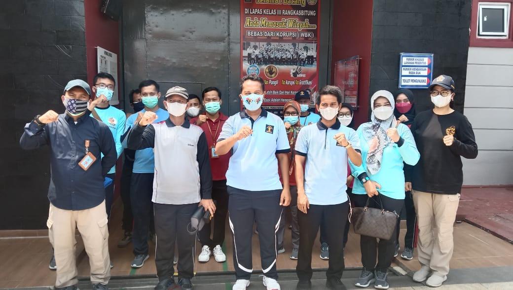 Lapas kelas III Rangkasbitung menerima kunjungan studi banding dan kunjungan kerja Balai Pemasyarakatan (Bapas) Kelas II Ciangir