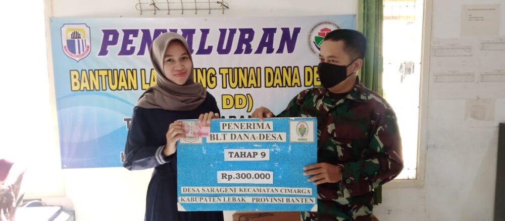 Pemerintah Desa Sarageni menyalurkan Bantuan Langsung Tunai (BLT) bersumber dari APBN dana desa bagi 120 Keluarga Penerima Manfaat (KPM)