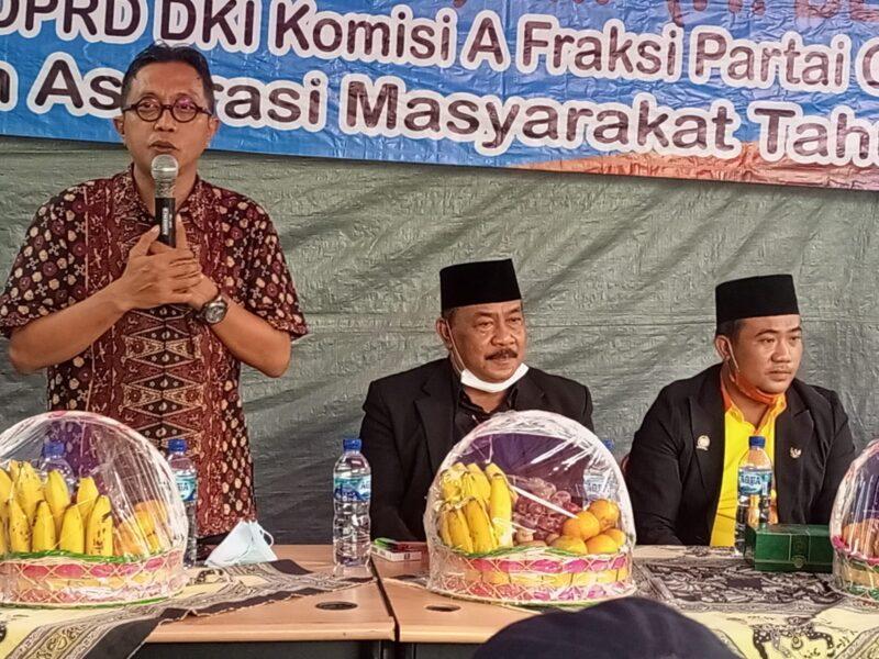 Anggota DPRD DKI Jakarta komisi A dari Fraksi Partai Golkar H Khotibi Achyar SIP melaksanakan kunjungan reses untuk menerima aspirasi