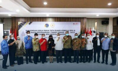 Komisi II Dewan Perwakilan Rakyat Republik Indonesia (DPR RI) melakukan kunjungan kerja (Kunker) ke kantor BPN Banten masa persidangan I