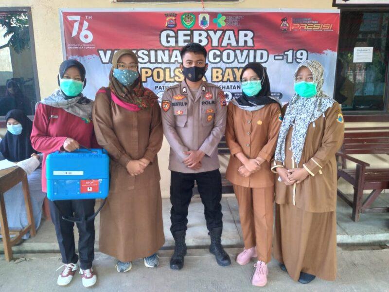 Polsek Bayah Polres Lebak Polda Banten kembali menggelar gebyar vaksinasi dosis ke 1 dan dosis 2 untuk umum dengan target 240 orang