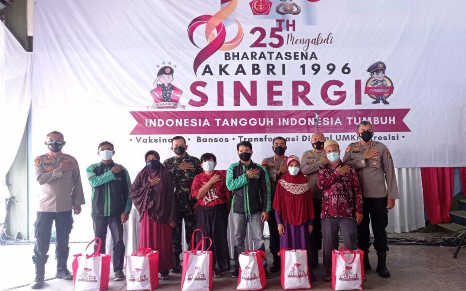 Akabri 1996 Bharatasena dalam 25 tahun masa pengabdiannya telah melakukan kegiatan Serbuan Vaksinasi, pembagian paket sembako langsung