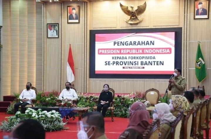 Gubernur Banten Wahidin Halim (WH) melaporkan sejumlah capaian pembangunan dan penanganan pandemi Covid-19 Provinsi Banten