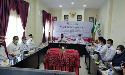 Pemerintah Kabupaten (Pemkab) Aceh Timur menandatangani Moratorium of Understanding (MoU) dan MOA dengan Poltekkes Kemenkes