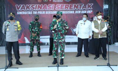Panglima TNI menekankan agar civitas akademika termasuk BEM UIN dan masyarakat harus aktif mensosialisasikan disiplin protokol kesehatan.