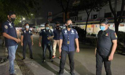 Polsek Kalideres menggelar olah Tempat Kejadian Perkara (TKP) kasus begal motor yang terjadi di Jalan Citra 3 Jakarta Barat